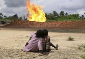 Földgáztűz Nigériában