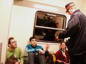 Jegykezelés egy vonaton