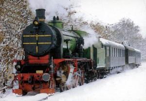 Téli vonatozás