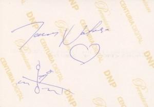 Natasa aláírása a tavalyi fotón