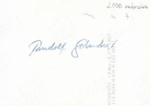 Rudolf Schuster aláírása