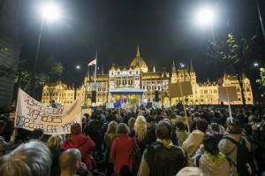 Kossuth téri tüntetők
