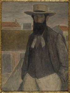 Rippl Rónai József: Aristide Maillol portréja, 1899.