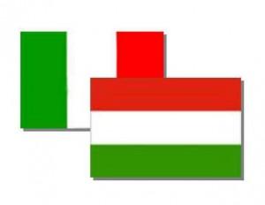 Olasz és magyar zászló
