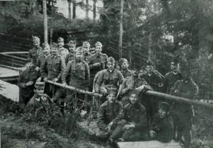 Lajtha László katonatársaival