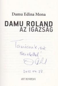 Damu Roland aláírása