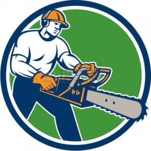 Láncfűrészes favágás