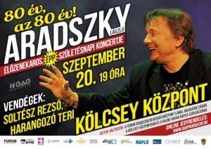 Aradszky László 80 éve