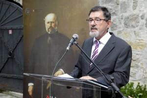 Széll Ágoston rektor Semmelweis Ignác előtt
