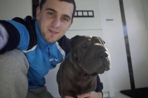 Cseh Laci és kutyája