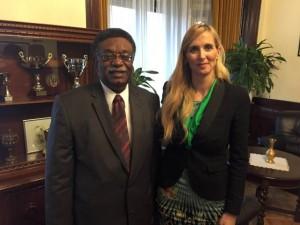 Szabó Tünde a szudáni nagykövettel