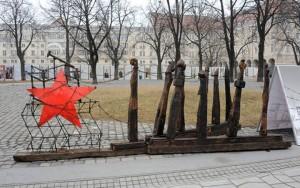 Gulág installáció a Városháza parkban