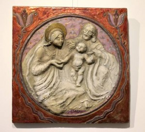 Petrás Mária domborműve