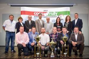 A 12. Coop Rallye dobogósai és különdíjasai