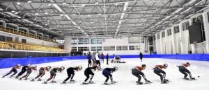 Gyors-korcsolyázók a Jégcsarnokban