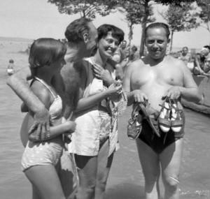 Latabár Siófokon 1955-ben