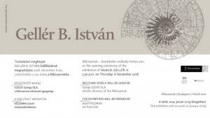 Gellér B. István meghívója