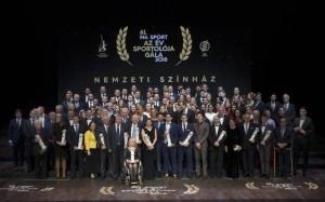 Díjazottak és díjátadók