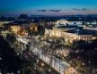 Bécs látképe éjjel a Filmspektakel felvételén